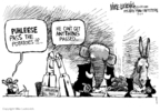 Cartoonist Mike Luckovich  Mike Luckovich's Editorial Cartoons 2007-07-01 bipartisan