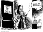 Cartoonist Mike Luckovich  Mike Luckovich's Editorial Cartoons 2007-07-21 animal cruelty