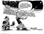 Cartoonist Mike Luckovich  Mike Luckovich's Editorial Cartoons 2007-07-24 baseball game