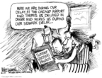 Cartoonist Mike Luckovich  Mike Luckovich's Editorial Cartoons 2007-08-07 delay