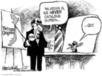 Cartoonist Mike Luckovich  Mike Luckovich's Editorial Cartoons 2007-08-23 never