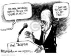 Cartoonist Mike Luckovich  Mike Luckovich's Editorial Cartoons 2007-10-10 2008 debate