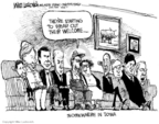 Cartoonist Mike Luckovich  Mike Luckovich's Editorial Cartoons 2007-10-31 Obama Biden