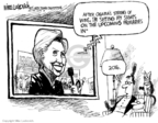 Cartoonist Mike Luckovich  Mike Luckovich's Editorial Cartoons 2008-02-13 2008 primary