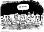 Cartoonist Mike Luckovich  Mike Luckovich's Editorial Cartoons 2008-02-25 2008 primary
