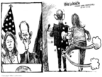 Cartoonist Mike Luckovich  Mike Luckovich's Editorial Cartoons 2008-03-14 glove