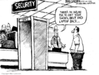 Cartoonist Mike Luckovich  Mike Luckovich's Editorial Cartoons 2008-05-22 security