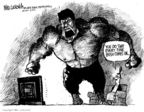 Cartoonist Mike Luckovich  Mike Luckovich's Editorial Cartoons 2008-06-13 anger