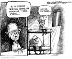 Cartoonist Mike Luckovich  Mike Luckovich's Editorial Cartoons 2008-07-30 indictment