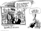 Cartoonist Mike Luckovich  Mike Luckovich's Editorial Cartoons 2008-10-13 McCain Palin