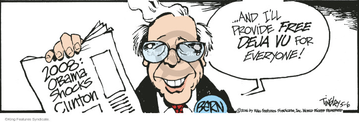 2008: Obama Shocks Clinton � and Ill provide free d�j� vu for everyone! Bern.