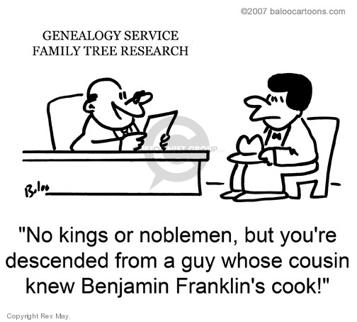 Cartoonist Rex May  Rex May Gag Cartoons 2008-12-23 family