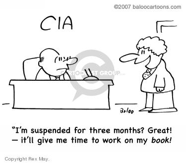 Cartoonist Rex May  Rex May Gag Cartoons 2008-02-19 CIA