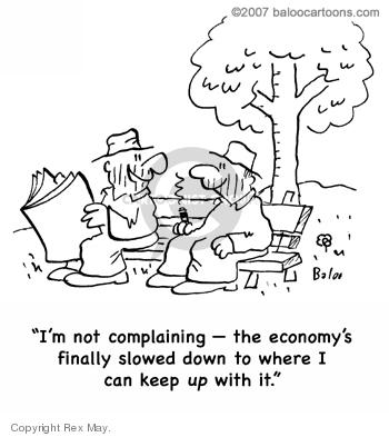 Cartoonist Rex May  Rex May Gag Cartoons 2008-02-20 recession