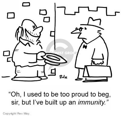 Cartoonist Rex May  Rex May Gag Cartoons 2007-06-11 immunity