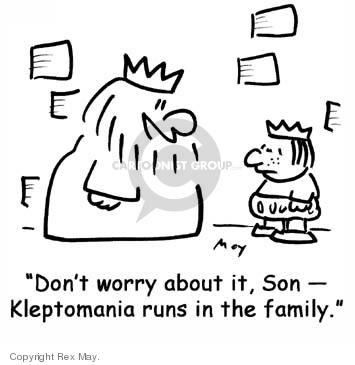 Cartoonist Rex May  Rex May Gag Cartoons 2007-08-21 family