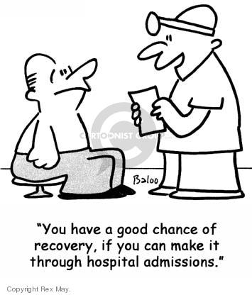 Cartoonist Rex May  Rex May Gag Cartoons 2007-09-14 illness