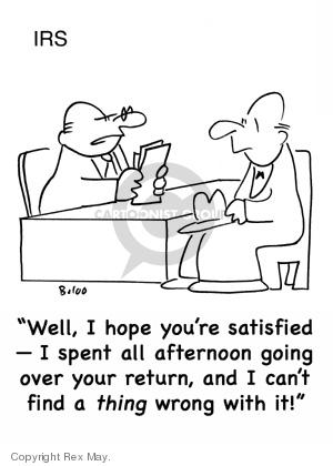 Cartoonist Rex May  Rex May Gag Cartoons 2007-12-08 tax audit
