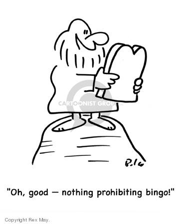 Oh, good - nothing prohibiting bingo!
