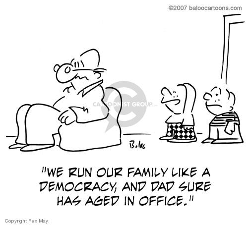 Cartoonist Rex May  Rex May Gag Cartoons 2008-05-03 family