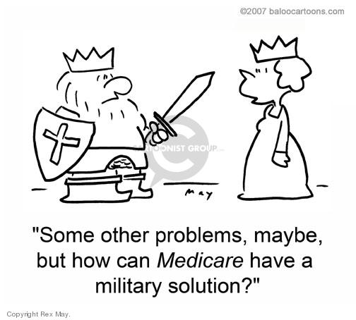 Cartoonist Rex May  Rex May Gag Cartoons 2008-08-23 military