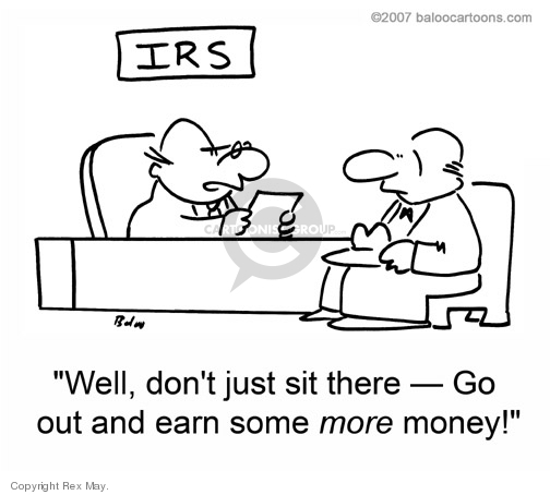 Cartoonist Rex May  Rex May Gag Cartoons 2008-10-01 income tax