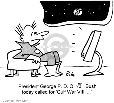 Cartoonist Rex May  Rex May Gag Cartoons 2007-04-30 George W. Bush