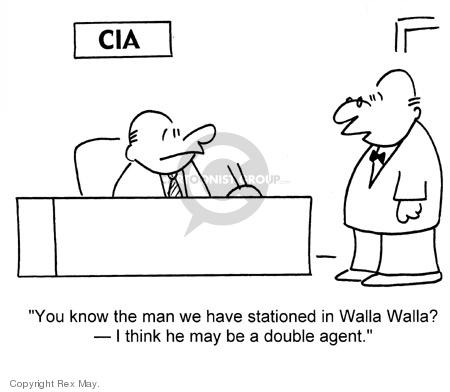 Cartoonist Rex May  Rex May Gag Cartoons 2007-05-08 CIA