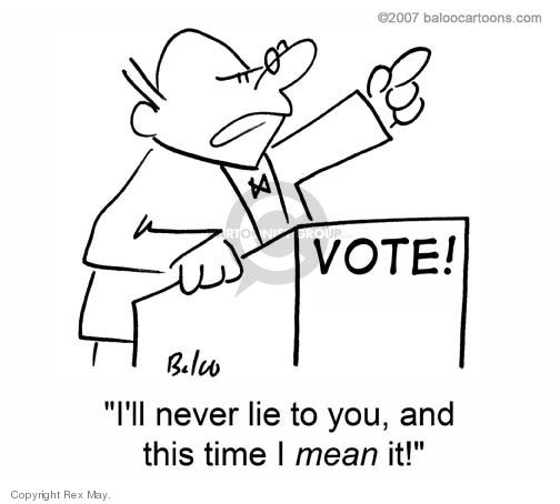 Cartoonist Rex May  Rex May Gag Cartoons 2008-10-08 voter