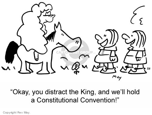 Cartoonist Rex May  Rex May Gag Cartoons 2007-05-31 constitutional convention
