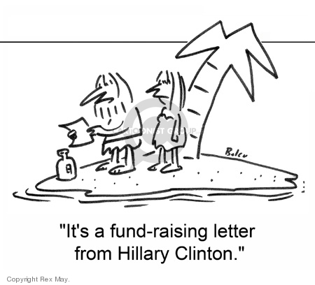 Its a fund-raising letter from Hillary Clinton.