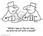 Cartoonist Rex May  Rex May Gag Cartoons 2007-10-03 married couple