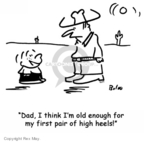 Cartoonist Rex May  Rex May Gag Cartoons 2007-10-05 fathers and sons