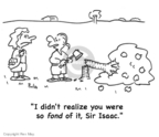 Cartoonist Rex May  Rex May Gag Cartoons 2007-12-21 apple