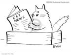 Cartoonist Rex May  Rex May Gag Cartoons 2008-10-21 cat