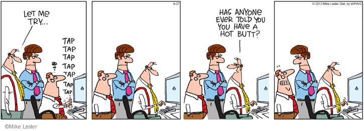 Cartoonist Mike Lester  Mike du Jour 2012-09-27 workplace