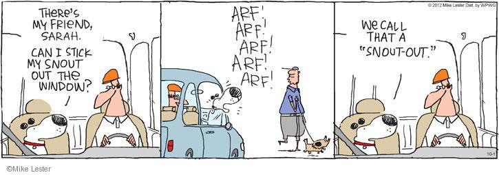 Cartoonist Mike Lester  Mike du Jour 2012-10-01 dog bark
