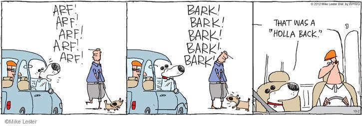 Cartoonist Mike Lester  Mike du Jour 2012-10-02 dog bark