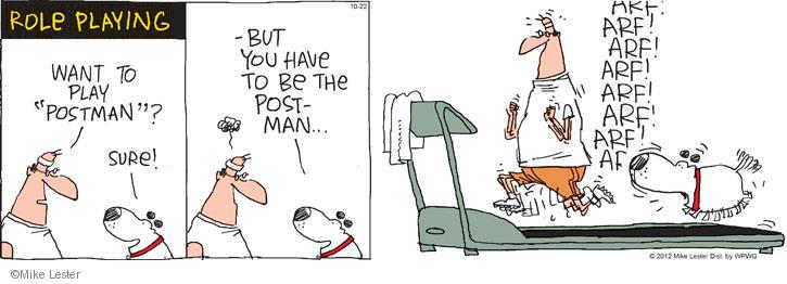Cartoonist Mike Lester  Mike du Jour 2012-10-22 dog