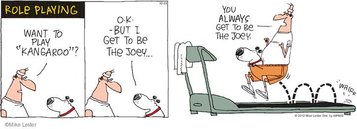Cartoonist Mike Lester  Mike du Jour 2012-10-23 dog
