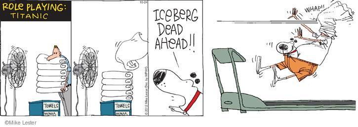 Comic Strip Mike Lester  Mike du Jour 2012-10-24 treadmill
