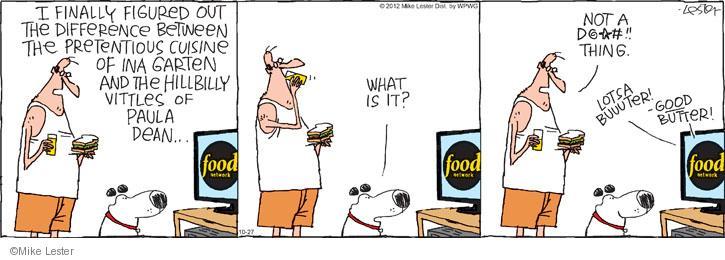Cartoonist Mike Lester  Mike du Jour 2012-10-27 butter