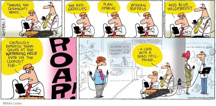 Comic Strip Mike Lester  Mike du Jour 2012-10-28 lion