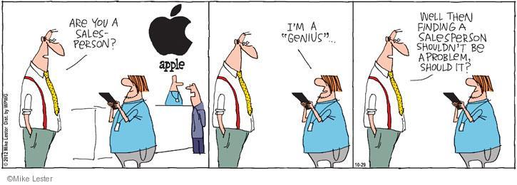 Cartoonist Mike Lester  Mike du Jour 2012-10-29 shopper