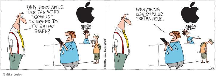 Cartoonist Mike Lester  Mike du Jour 2012-10-30 shopper