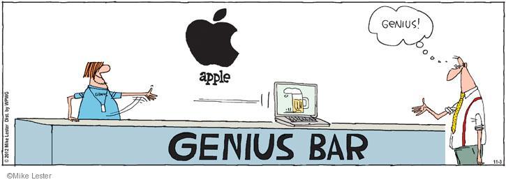 Comic Strip Mike Lester  Mike du Jour 2012-11-03 Apple Computer