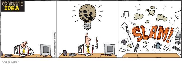 Comic Strip Mike Lester  Mike du Jour 2012-11-06 cement