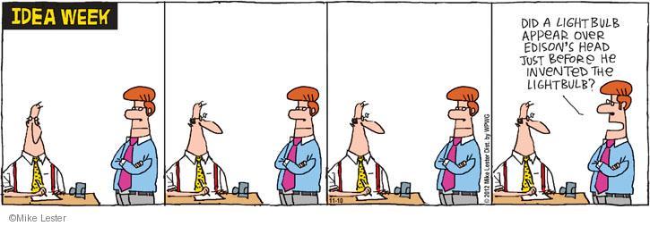 Comic Strip Mike Lester  Mike du Jour 2012-11-10 appear
