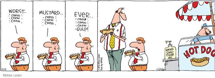 Cartoonist Mike Lester  Mike du Jour 2012-11-15 dog