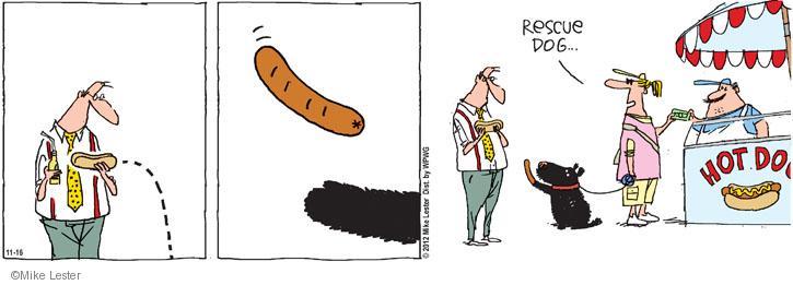Cartoonist Mike Lester  Mike du Jour 2012-11-16 dog